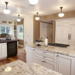 White Kitchen Cabinets with Granite