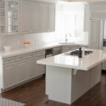 White Kitchen Cabinets with White Countertops