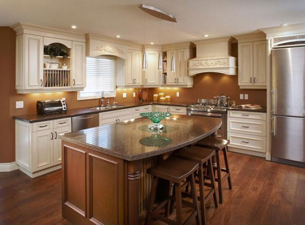 White Wood Kitchen Cabinets