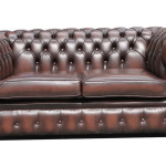 chesterfield leather sofa bed