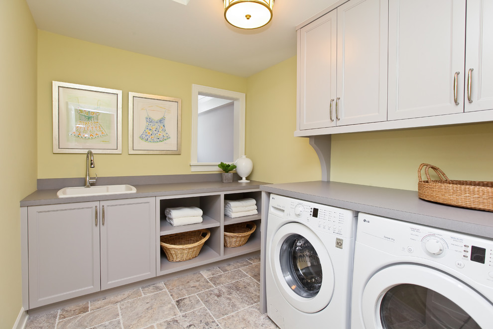 Deep Laundry Room Cabinets