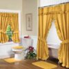 Double Swag Bathroom Shower Curtain Sets
