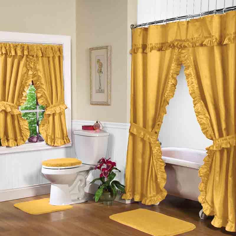 Double Swag Shower Curtain Sets Decor Ideasdecor Ideas