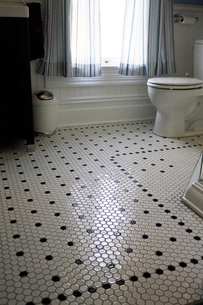 Hexagon Bathroom Floor Tile