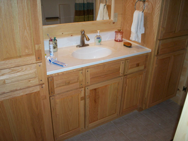Oak Bathroom Vanity Cabinets Decor Ideasdecor Ideas
