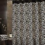 Zebra Shower Curtain Set