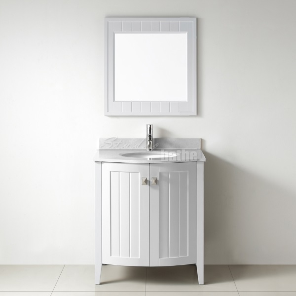 30 White Bathroom Vanity with Drawers