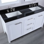 Black and White Bathroom Vanity