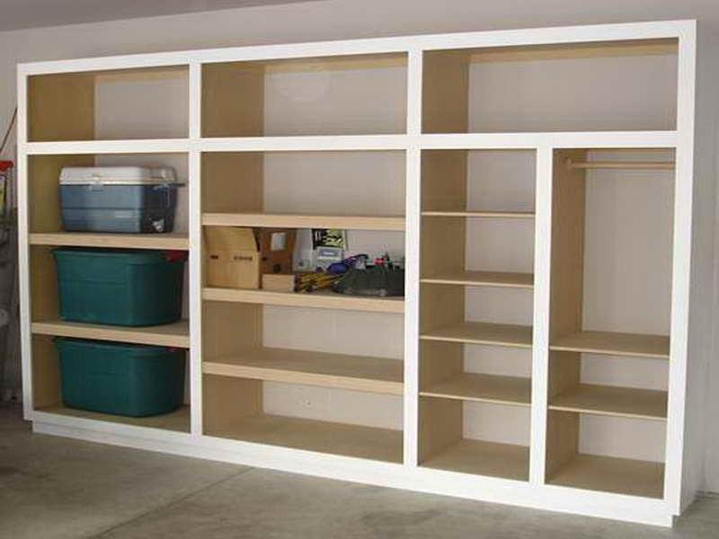Homemade Garage Shelves