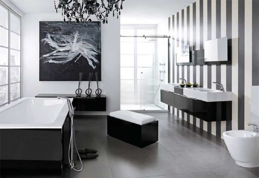 Modern Black and White Bathroom Photos
