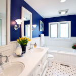 Navy and White Bathroom