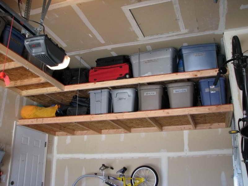 Overhead Shelving Ideas for Garage