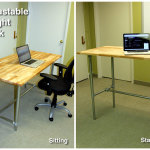 Adjustable Sitting Standing Desk