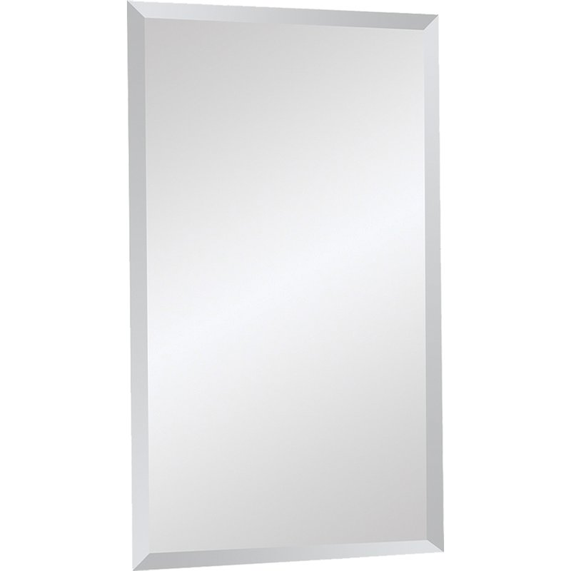 Frameless Beveled Wall Mirror