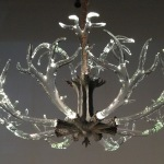 Glass Antler Chandelier