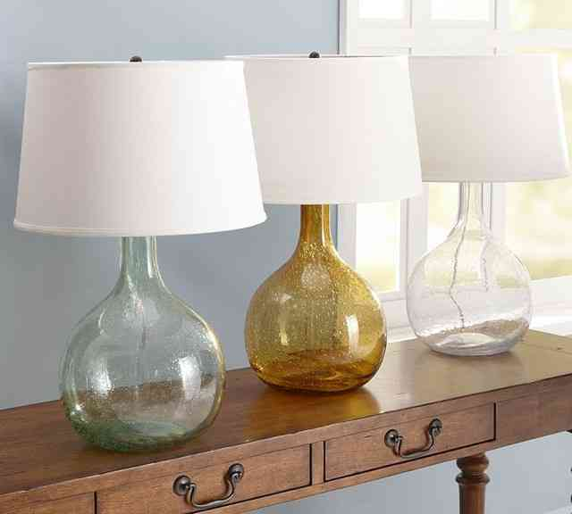 Glass Table Lamps for Bedroom