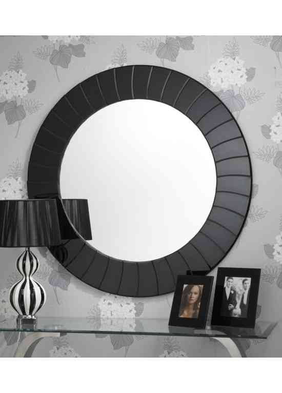 Large Black Wall Mirror