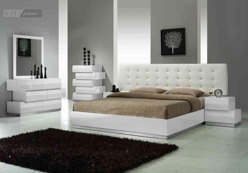 Modern White Bedroom Set
