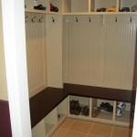 Mudroom Shelves with Hooks