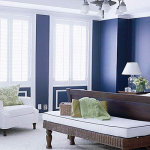 Navy and Teal Bedroom