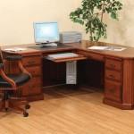 Solid Wood Corner Desk for Home