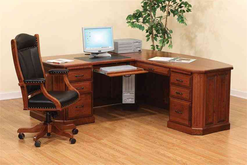 interesting home office design corner desk pictures 01 homeexteriorinterior | Solid Wood Corner Desk for Home - Decor IdeasDecor Ideas