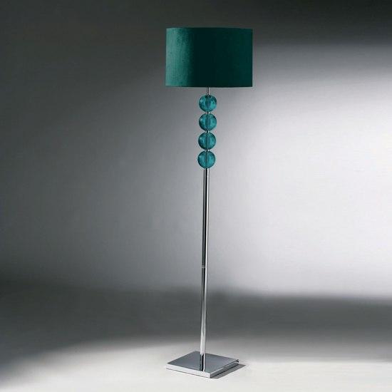 Teal Floor Lamp