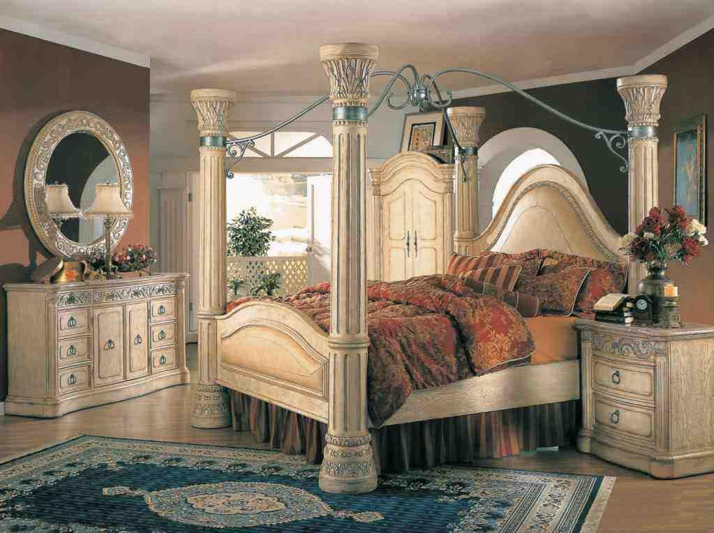 White Canopy Bedroom Set