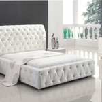 White Leather Bedroom Set