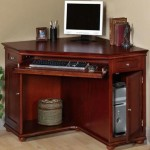 Wood Cherry Corner Desk with Hutch