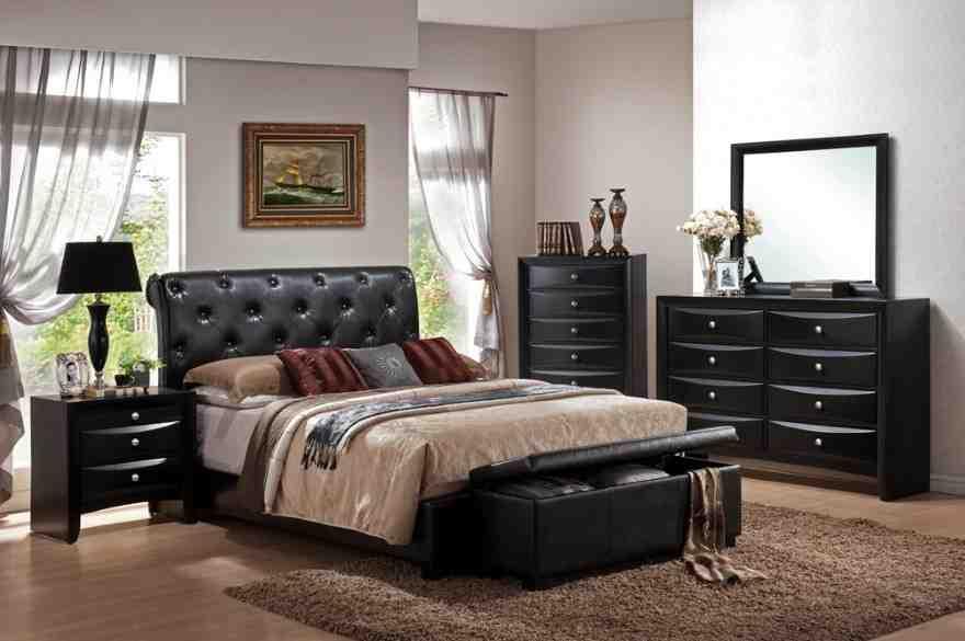 Black Leather Bedroom Furniture