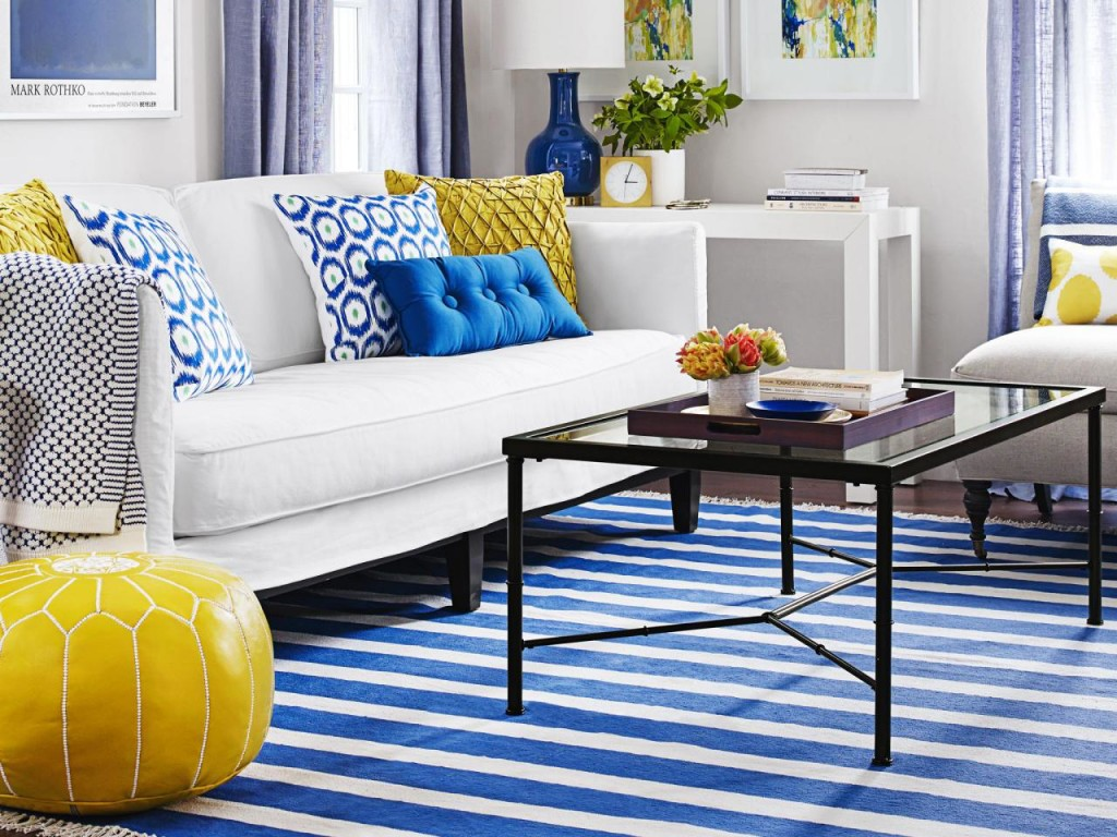 Blue Living Room Rug Decor Ideasdecor Ideas