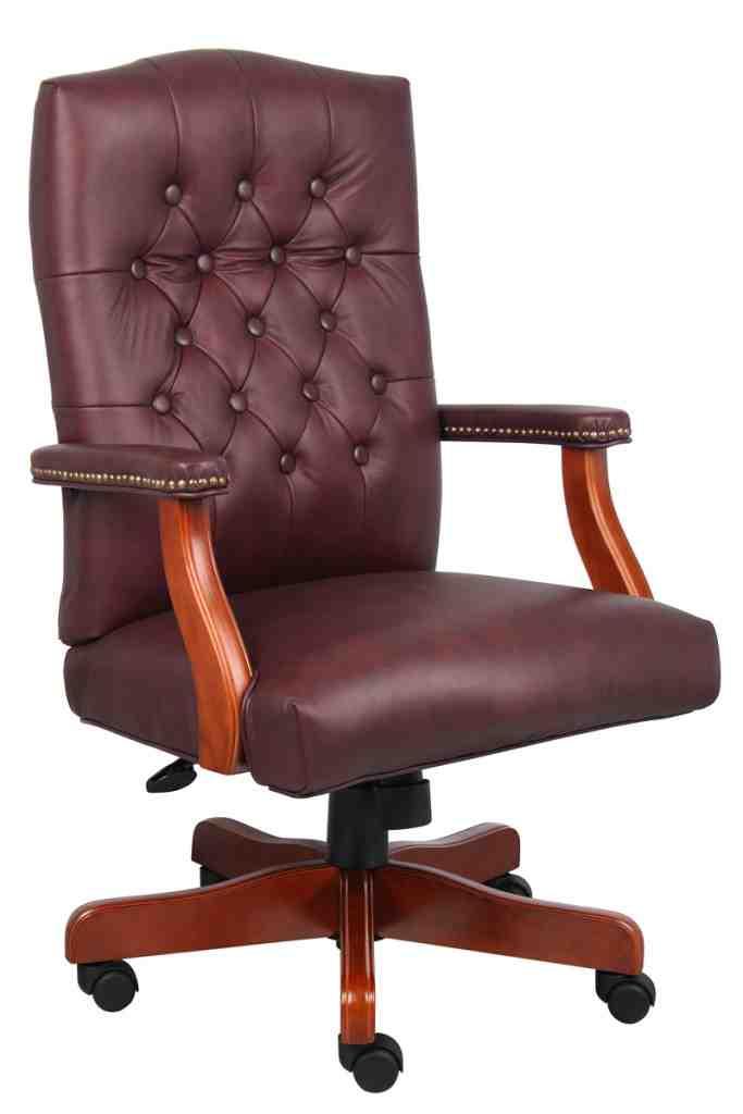 Burgundy Leather Office Chair