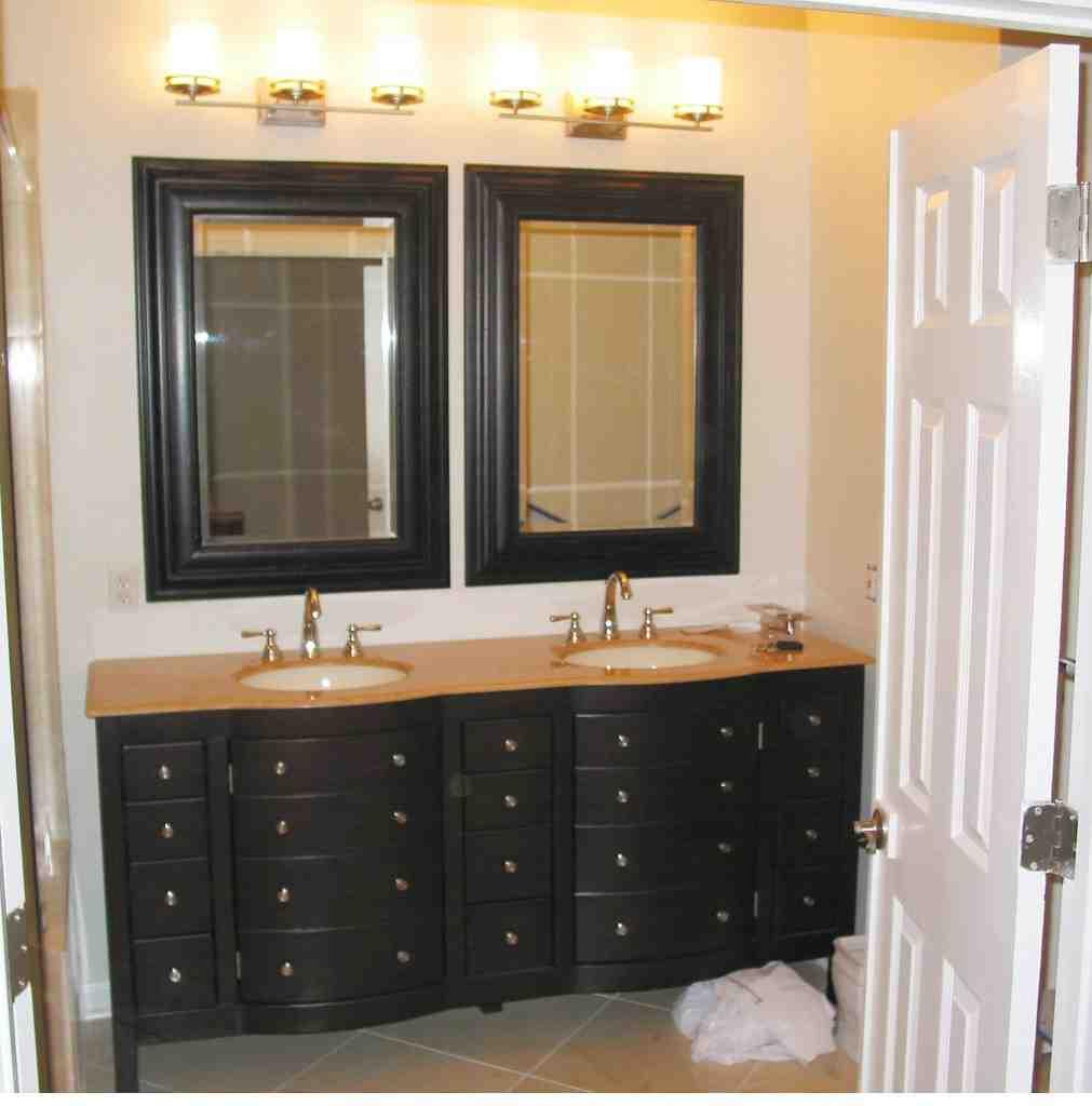 Double Vanity Mirrors for Bathroom