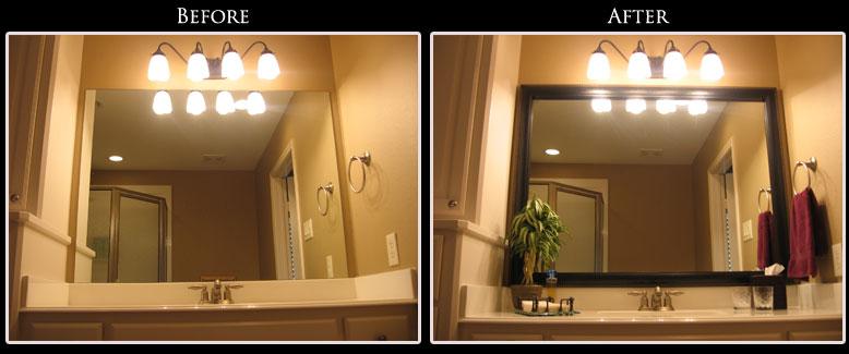 Framing Bathroom Mirror Ideas