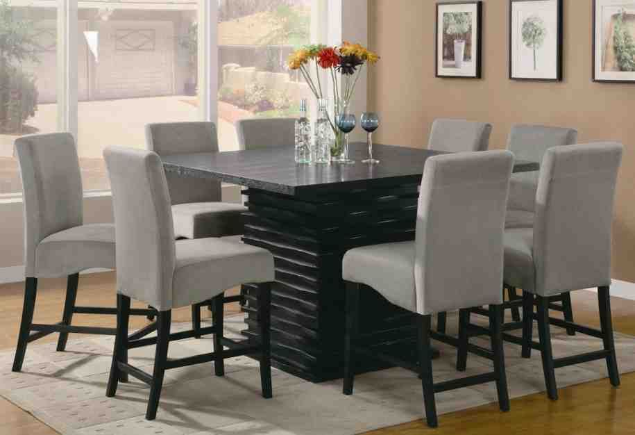 Grey Fabric Dining Room Chairs