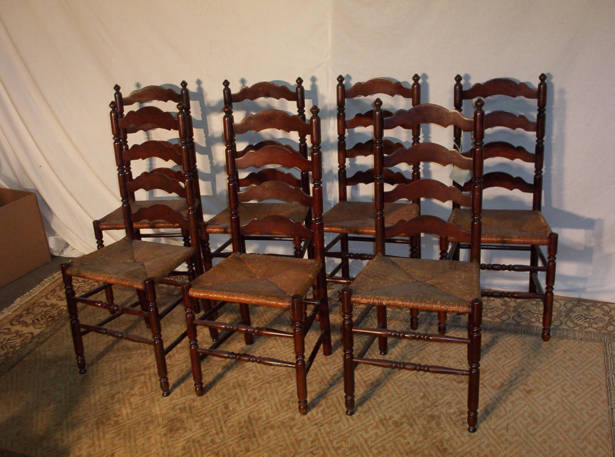 Pleasant Ladder Back Dining Room Chairs Decor Ideasdecor Ideas Download Free Architecture Designs Grimeyleaguecom