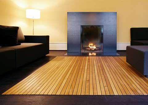 Large Bamboo Floor Mat
