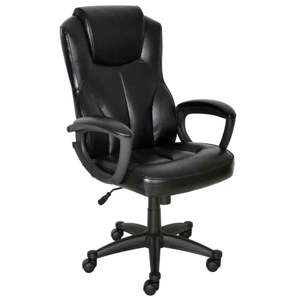 Leather Mid-Back Office Chair