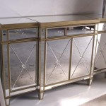 Mirrored Buffet Sideboard