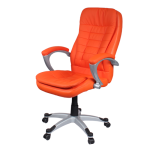 Orange Leather Office Chair