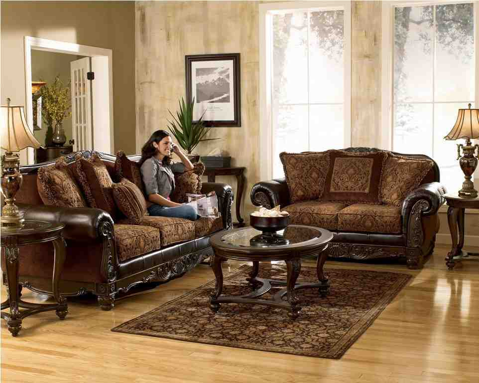 Ashley living room sets decor ideasdecor ideas for Drawing room furniture set