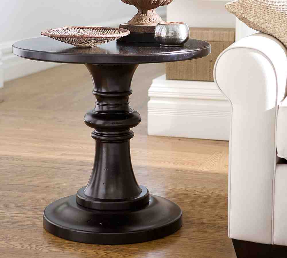 Black Round Pedestal End Table Decor Ideasdecor Ideas