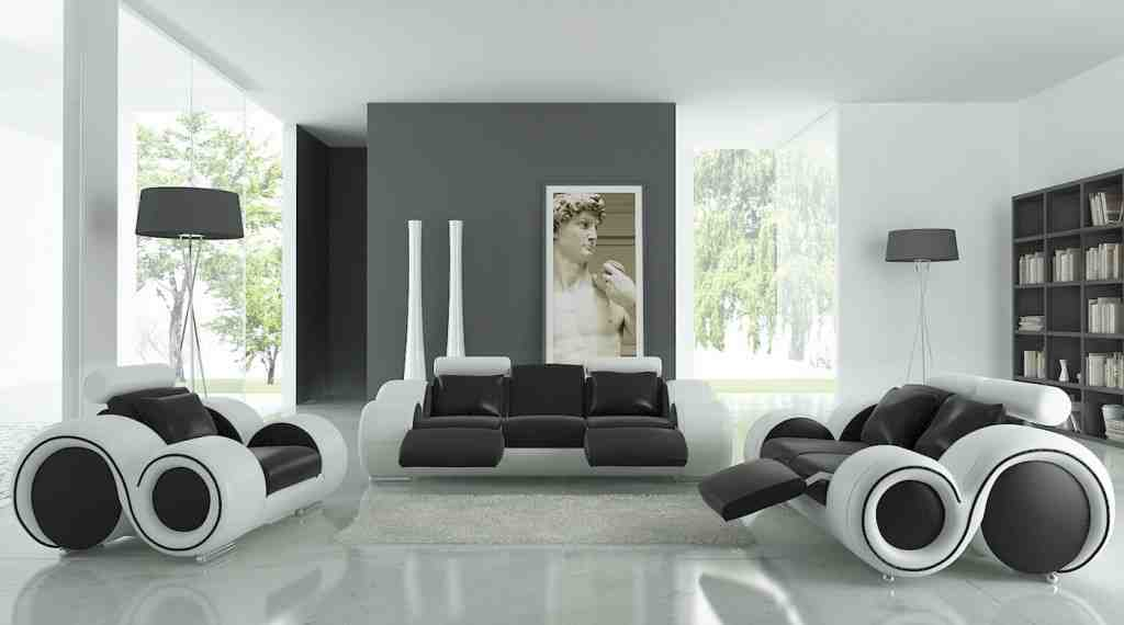 Black and White Living Room Sets
