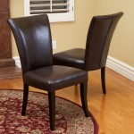 Brown Leather Dining Room Chairs