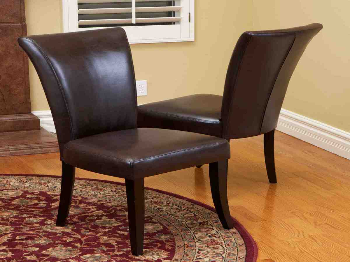 Brown Leather Dining Room Chairs Decor Ideasdecor Ideas