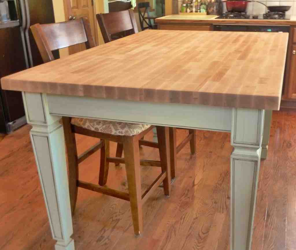 White Butcher Block Kitchen Table : Butcher Block Kitchen Table and Chairs - Decor IdeasDecor Ideas