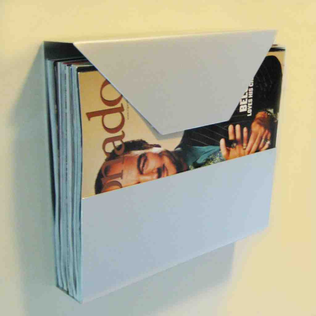 Clear Magazine Rack Wall Mounted