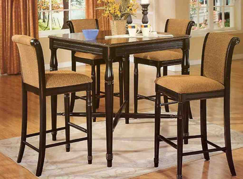high kitchen table and chairs decor ideasdecor ideas. Black Bedroom Furniture Sets. Home Design Ideas