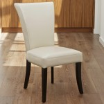 Ivory Leather Dining Chairs